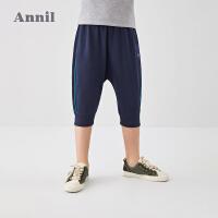 【3件3折价:59.7】安奈儿童装男童七分裤2020夏装新款休闲时尚运动洋气中大童短裤子