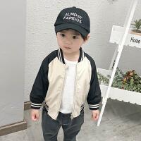 婴儿外套2019春装新款拼接印花宝宝洋气上衣男童帅气潮衣儿童衣服