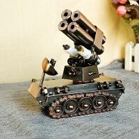 创意礼品 铁艺工艺品摆件 金属坦克模型 二色四个火箭筒A 14*7.5*15厘米