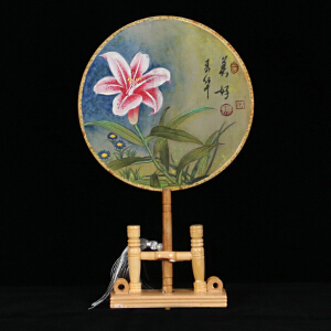《美好》精致工笔丝绢画扇 张一娜R3345