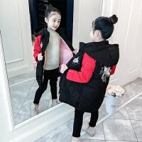 儿童棉衣冬季2018新款韩版女孩中长款棉服加厚