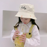 兔耳朵卡通儿童防晒渔夫帽男女童夏季遮阳帽子