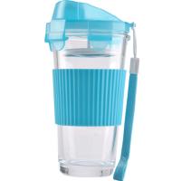 日本泰福高居家户外玻璃杯便携带盖办公杯水杯男女士随手杯