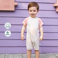 【618年中庆 129元任选3件】迷你巴拉巴拉婴儿连体衣2020夏季新款男宝宝全棉好穿脱柔软连体衣