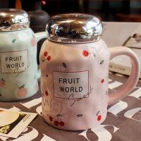 创意水果陶瓷杯子大容量马克杯茶杯情侣杯学生可爱牛奶杯带盖