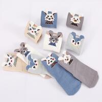 婴儿袜子春秋0-3个月初生儿男童袜子可爱女宝宝1-3岁冬季