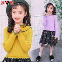 儿童连衣裙2018新款长袖公主裙春秋韩版女孩针织裙