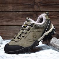 冬季加绒鞋子男户外休闲鞋男士登山鞋运动鞋跑步鞋潮棉鞋