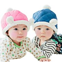韩国KK树婴儿帽子秋6-12个月 宝宝帽子秋冬1岁-2岁 保暖套头帽潮