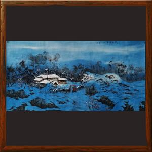 山水画《雪兆丰年》申志清ML5398 实力派专职画师