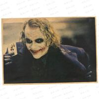 小丑海报 希斯莱杰蝙蝠侠黑暗骑士复古牛皮纸电影海报 酒吧宿舍装饰画 一套 42x30cm