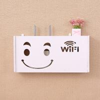 墙上插座电源遮挡壁挂电视墙集线插线板收纳盒墙洞装饰生活日用家居 大号-笑脸