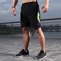 运动短裤男夏季薄款五分裤速干透气马拉松跑步短裤休闲篮球健身训练足球裤夜跑反光条