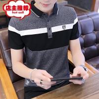 2019年流行短袖T恤男夏季新款翻领体恤男士POLO衫韩版修身潮流夏