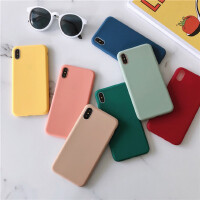 ins风简约百搭纯色11Pro Max苹果X/XS/XR手机壳iPhone6s/8plus/7p女款6p硅胶个性新款情侣