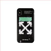 原创潮牌off white苹果XMAX手机壳iPhone7/8plus箭头软套6s情侣男 小6/6s OFF 格子【青