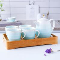 欧式水具套装家用客厅茶具冷水壶凉水壶陶瓷英式耐热水杯具配托盘