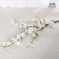 仿真桃花单支假树客厅摆件装饰梅花绢布干花假花花樱