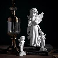 北欧复古天使艺术品雕塑家居饰品石膏雕像工艺品小摆件