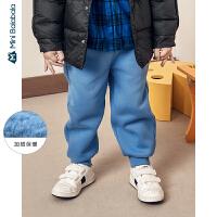 迷你巴拉巴拉儿童长裤幼童裤子2019冬装男女童宝宝多色厚款长裤