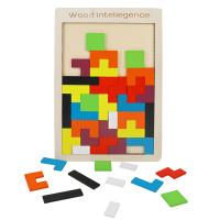 木质俄罗斯方块积木拼图儿童3-6周岁宝宝男孩女孩玩具
