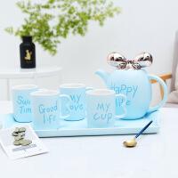 英式创意陶瓷水壶水杯耐热家用简约冷水壶凉水壶水具欧式杯子套装