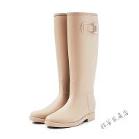 简约时尚雨鞋女高筒水靴防滑女士水鞋胶鞋雨靴