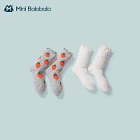 迷你巴拉巴拉儿童袜子2020秋季新款薄款女童宝宝精梳棉透气长筒袜