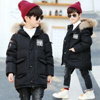 儿童棉衣2018新款韩版中长款棉袄中大童冬季加厚男孩
