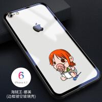 苹果X手机壳新款8P卡通7P海贼王XSmax可爱女款XR透明6p网红iPhone6splus保护套个 苹果/s-海贼王-