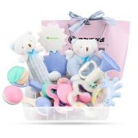 韩国goryeobaby婴儿手摇铃礼盒套装新生儿宝宝玩具牙咬胶0-2岁