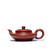 宜兴紫砂壶全手工纯茶壶名家陈忠徐龙扁大红袍小品早期作品 图片色