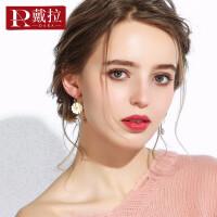 2019新款潮流百搭个性耳饰女士925银针雏菊气质耳环