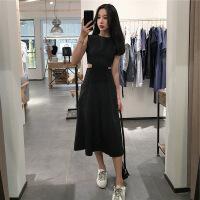 泰国普吉岛沙滩裙女夏巴厘岛三亚海边度假露腰显瘦超仙黑色连衣裙 黑色