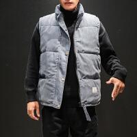 冬季灯芯绒棉马甲男士大码韩版宽松立领外穿外套潮流学生百搭男装