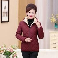 中老年妈妈装棉衣40-50岁加厚加绒短款外套中年女冬装外套