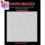 【中商海外直订】Hard Mazes: 54 Crazy Maze Challenging Games for Gen