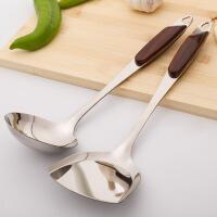 不锈钢炒菜铲家用不粘锅专用厨房大汤勺长柄火锅汤勺勺铲套装厨具 +