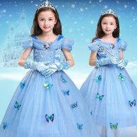 万圣节儿童服装冰雪奇缘公主裙灰姑娘礼服公主女童长袖