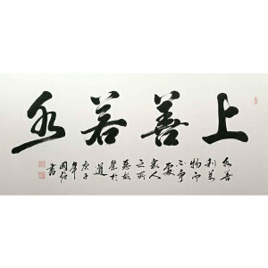 中国书协会员,河南省书协会员,一级书法师王国强(上善若水)14
