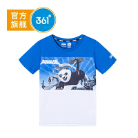 【下单立减】361度童装 男童T恤2019夏季新品儿童短袖上衣功夫熊猫IP款K51923225
