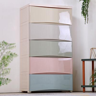 多层宝宝衣柜儿童收纳柜抽屉式塑料储物柜婴儿衣服整理箱五斗柜子