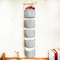 墙上挂袋 门后收纳神器衣柜袜子壁挂杂物储物袋布艺墙上收纳袋挂袋墙挂式 灰色 灰色线条12345