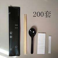 一次性筷子四件套餐具四合一组合纸巾勺子套装外卖餐具包组合定制