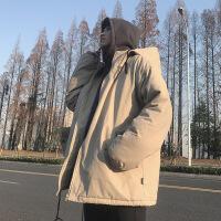 冬季男士棉衣韩版加厚假两件羽绒棉服棉袄外套新款冬装潮ins