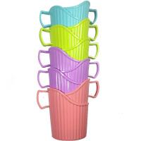 30个装杯托一次性纸杯杯托透明塑料手提杯套茶杯底座杯架纸杯托一次性用品