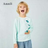 【3件3折预估到手价:50.7】专柜同款安奈儿童装男童趣味螃蟹双肩包2020春新款
