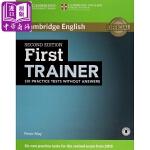 【中商原版】剑桥FCE考试模拟题:学生书(无答案、有音频)英文原版 First Trainer Six Practic