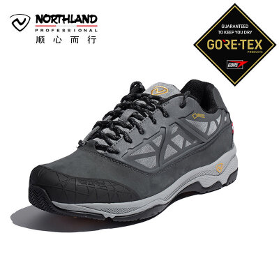 【顺心而行】诺诗兰新款徒步鞋户外男式GORE-TEX防水休闲鞋FH995555 全鞋身GTX防水袜套设计,防水透气