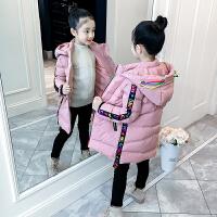 儿童棉衣冬季2018新款韩版中大童加厚外套中长款棉服女孩